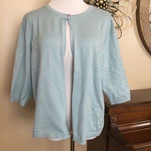 Lane Bryant Size 18/20 Light Blue Cardigan Sweater
